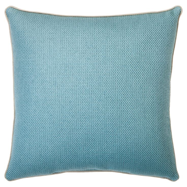 Add a little colorful revival to any space with this handsome Basket weave Toss Pillow. This little decorative pillow has a delightful basket weave pattern, which will make it a comfy addition to any sofa, armchair, bed, or day bed. The perfect accent piece for all kinds of furniture, toss pillows can be mixed and matched throughout your home to reflect any design scheme you choose. Decorative pillows are a simple, inexpensive way to totally revitalize the look of any room. Comes in blue…