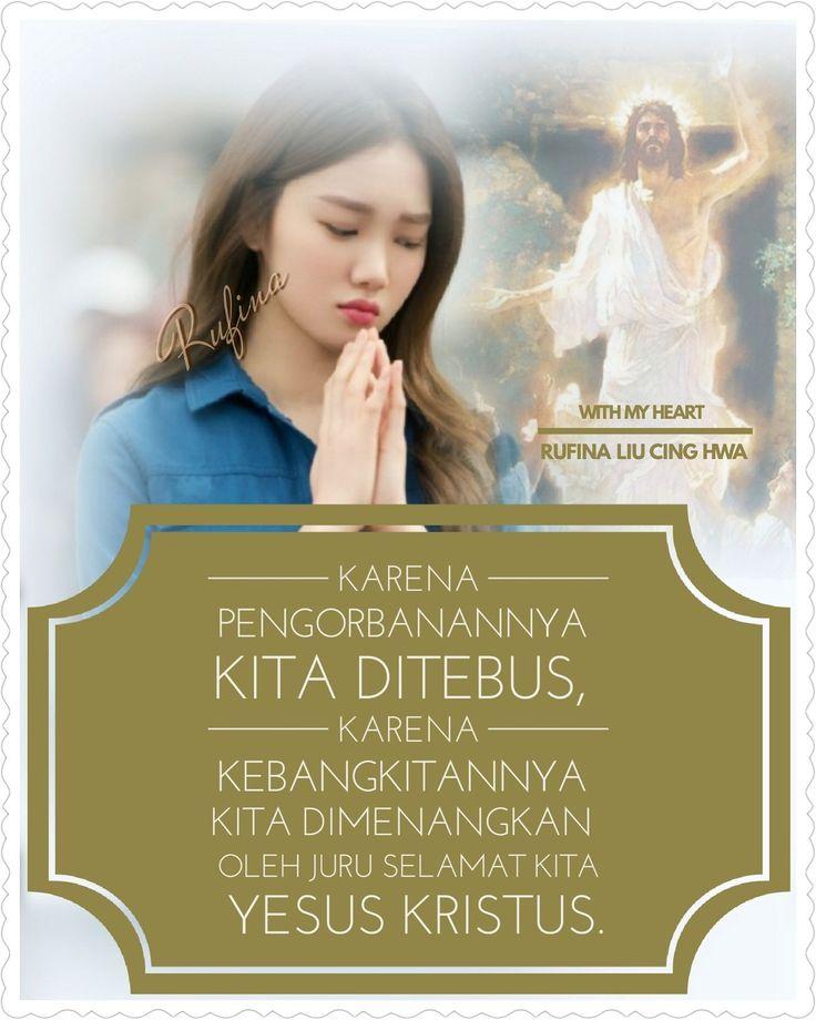✿*´¨)*With My Heart 💐🌼 ¸.•*¸.• ✿´¨).• ✿¨) (¸.•´*(¸.•´*(.✿ SELAMAT PAGI ....TYM ~  1 Korintus 15:57 (TB)  Tetapi syukur kepada Allah, yang telah memberikan kepada kita kemenangan oleh Yesus Kristus, Tuhan kita.