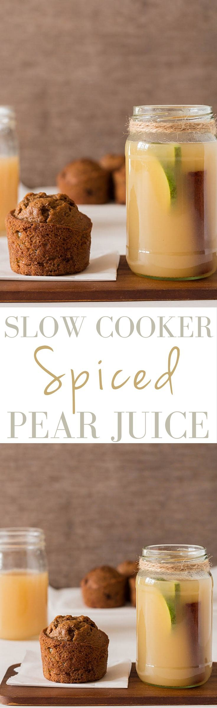 Slow Cooker Spiced Pear Juice   Recipes From A Pantry