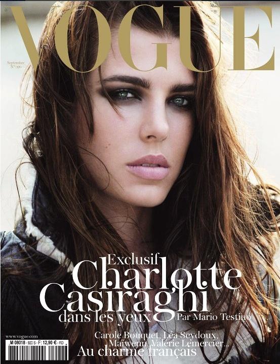 Vogue Paris - août 2011 - Charlotte Casiraghi   http://www.vogue.fr/mode/news-mode/articles/charlotte-casiraghi-en-couverture-de-vogue-paris/8964