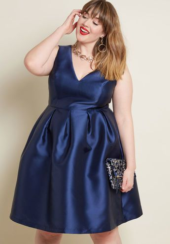 26f8dd9e188 Chi Chi London Sweetly Celebrated Fit and Flare Dress in Navy ...