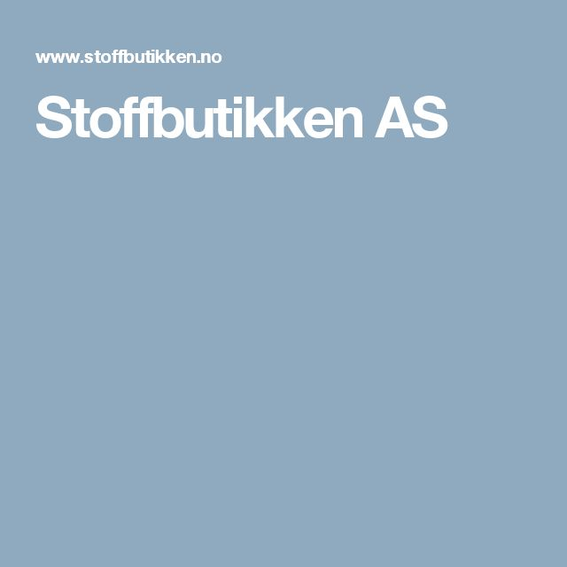 Stoffbutikken AS