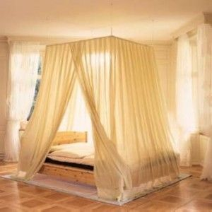 25 best ideas about canopy bed curtains on pinterest. Black Bedroom Furniture Sets. Home Design Ideas