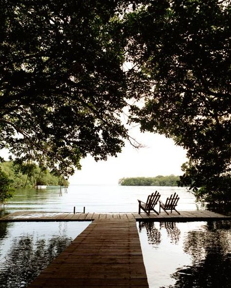 Lets sit by the lake.