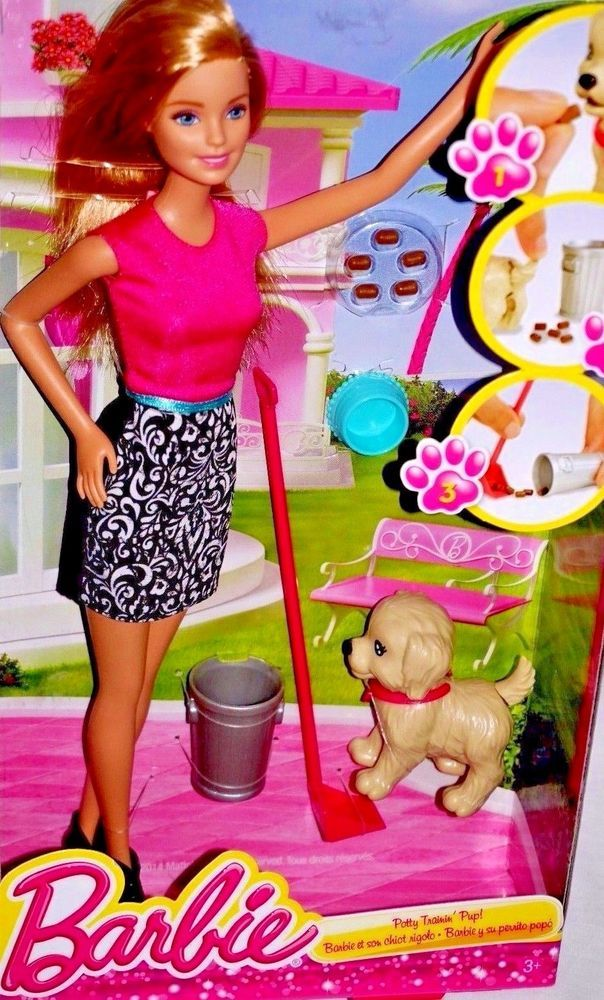 Barbie Potty Training Pup with Accessories job lot all parts in box bundle girls
