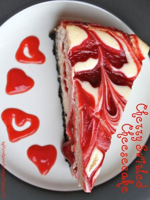 Cherry Swirled Cheesecake | Sweet Tooth! | Pinterest