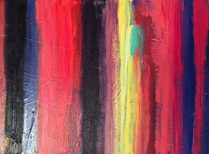 Pinks abstract painting