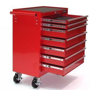 a 06193 carro caja de herramientas taller movil 7 cajones rojo chapa de acero 4 ru
