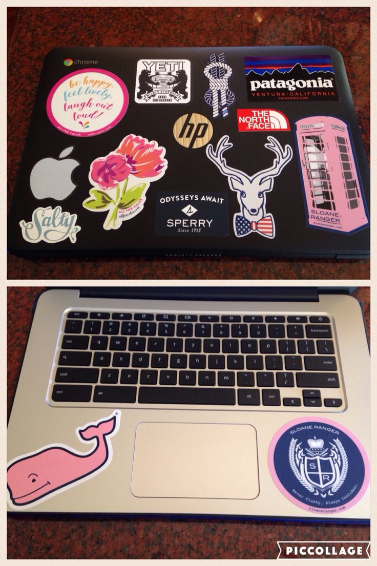 Preppy laptop stickers #vineyardvines #sloaneranger #yeti #patagonia #sperry #northface #burlebo #allforcolor #apple #jadelynnbrooke