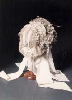 Charlotte Bronte's wedding bonnet, 1854.  Bronte Parsonnage Museum