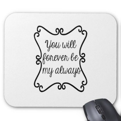Forever.jpg Mouse Pad - valentines day gifts love couple diy personalize for her for him girlfriend boyfriend