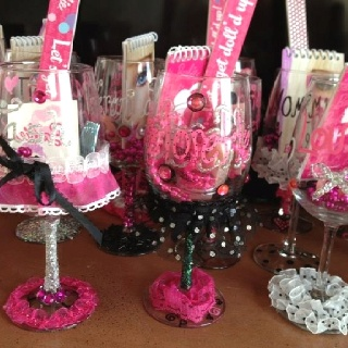 Party favors glasses and bachelorette party gifts on for At home bachelorette party ideas