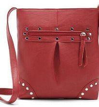 új 2015 forró fekete pénztárca és táskák nők messenger táska vállon cipzáras szegecs nők bőr kézitáska (Kína (szárazföld))