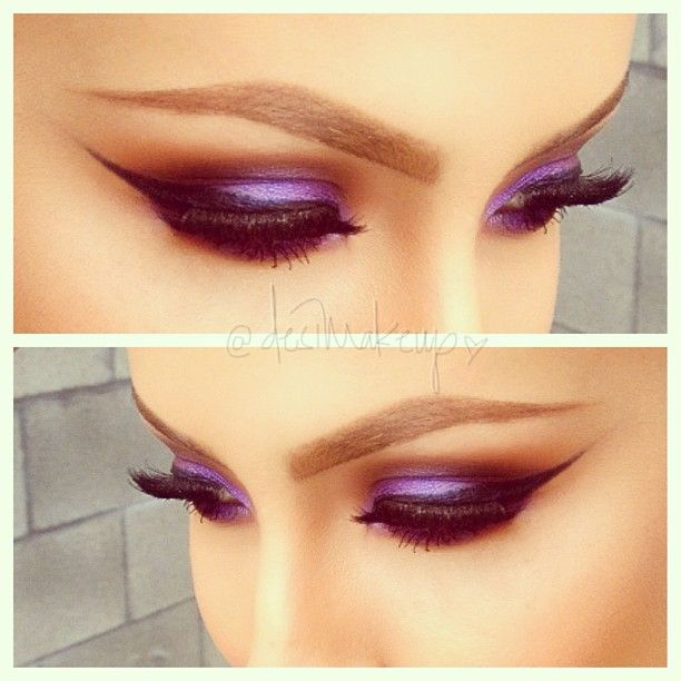 .@desimakeup | Here is a close up of my previous post! Purple haze #desimakeup #ilovemacg...