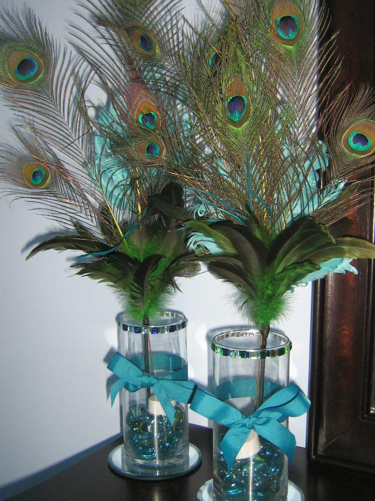 Peacock Feather Arrangements