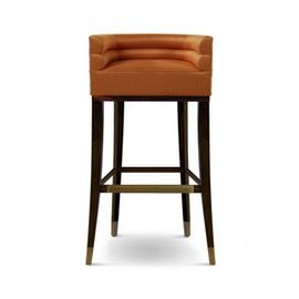 Maa Bar Chair  Contemporary, MidCentury  Modern, Transitional, Upholstery  Fabric, Metal, Wood, Barstools  Counter Stool by Carlyle Collective