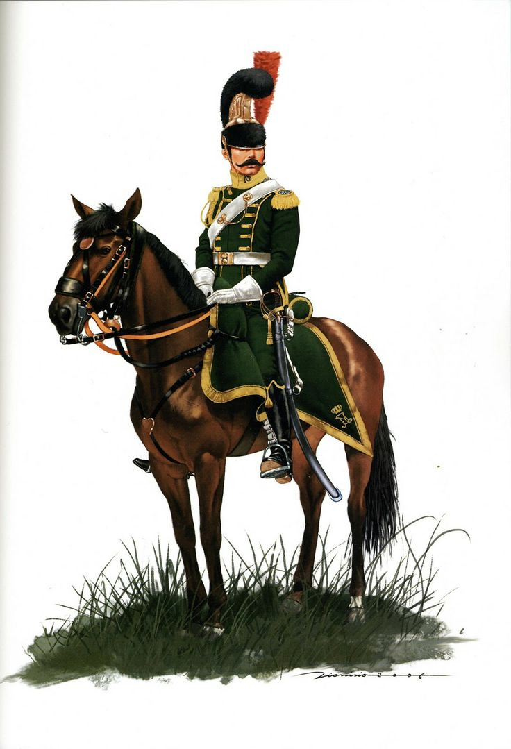 Royal Guard Cavalry of Joseph Bonaparte Officer Light Cavalry