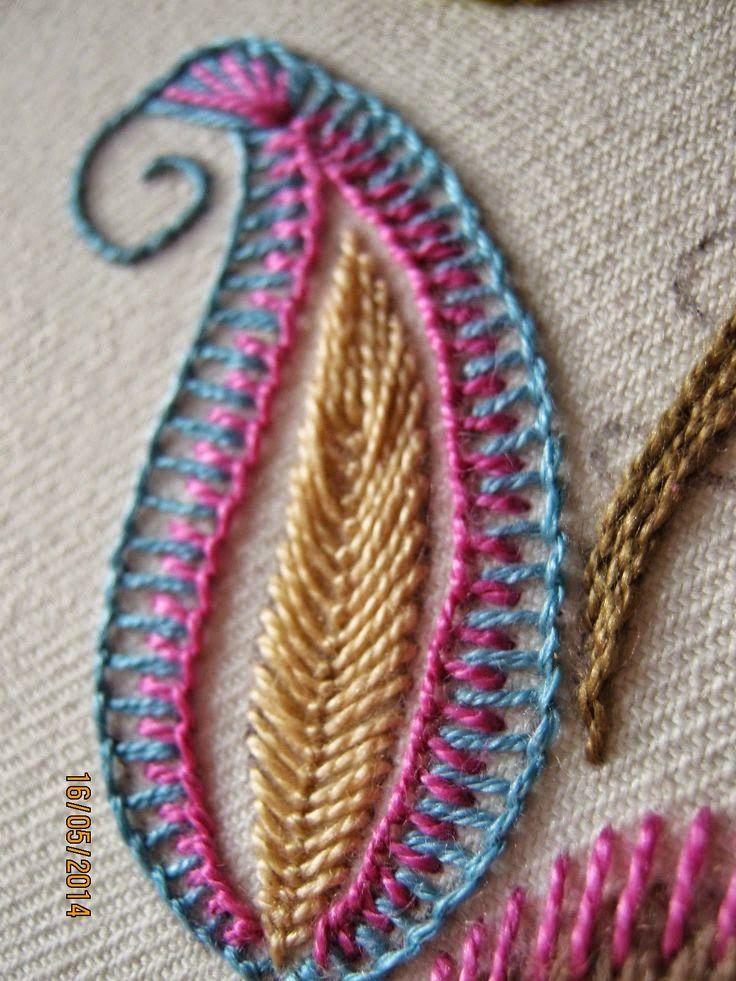 ideias e inspirações de bordados a mão em vestuário ou decoração