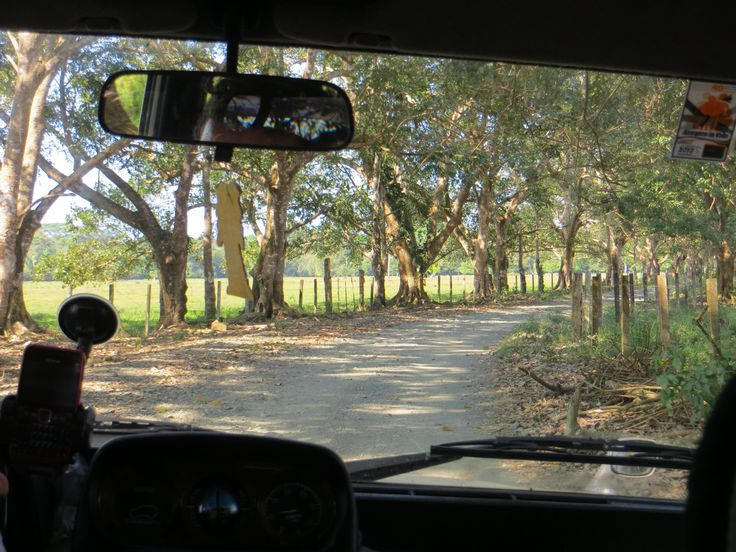 mooie landweg in Costa Rica