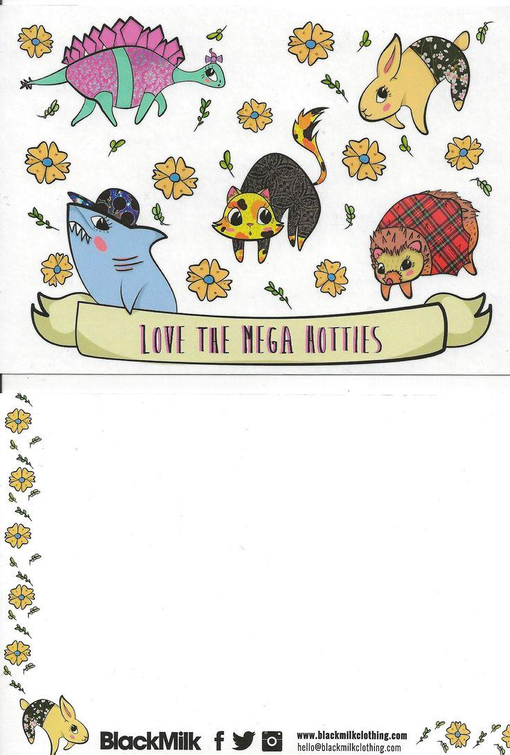 43. The Mega Hotties Customer Service card