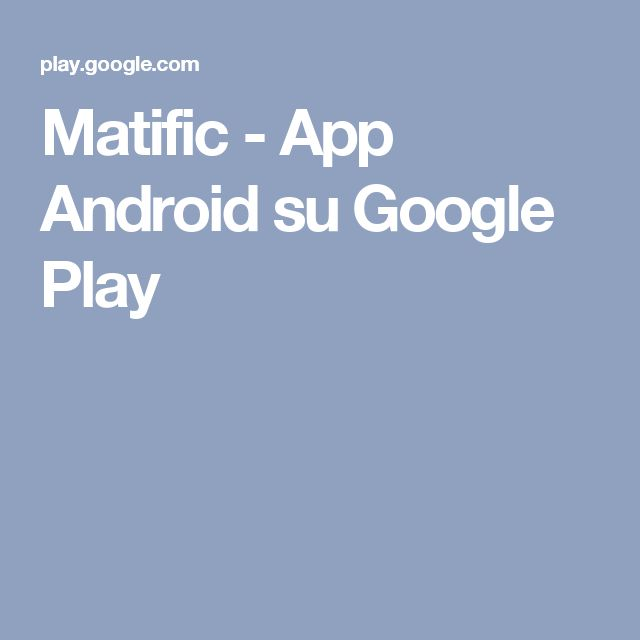 Matific - App Android su Google Play
