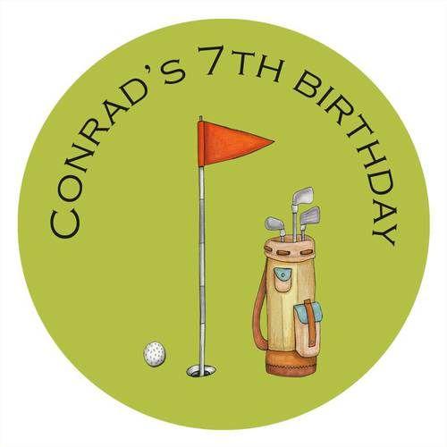 Putt Putt Golf Personalised Birthday Cake Icing Sheet - Edible Image.
