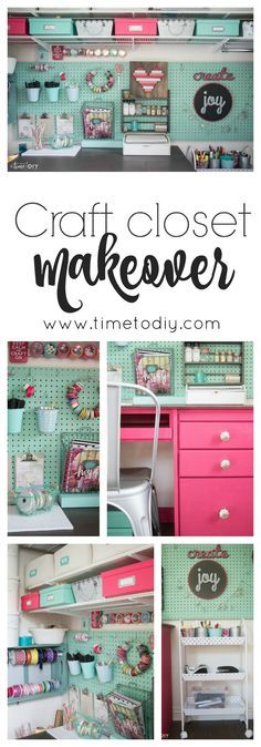 .Love the colors and the fun of this craft closet DIY makeover. Great ideas and tips to keep things organized and easy to reach.