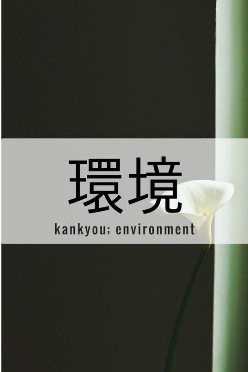 One Kanji a Day環境、kankyou; environment