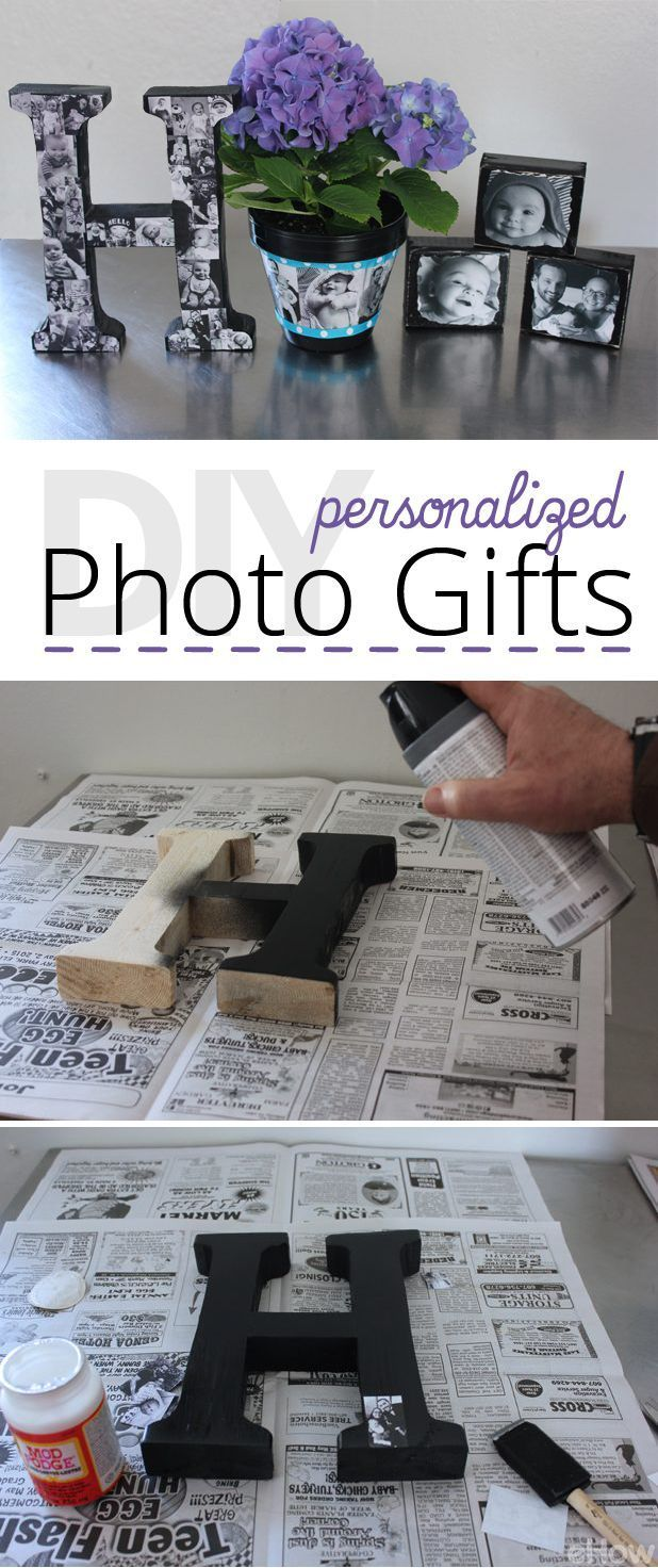 Decorative wooden block, planter, or monogram - all of them make amazing personalized photo gifts! Think Mother's or Father's day (or even a gift for grad) these sentimental pieces will make anyone smile! How-to directions here: http://www.ehow.com/info_12340465_diy-personalized-photo-gifts.html?utm_source=pinterest.com&utm_medium=referral&utm_content=inline&utm_campaign=fanpage