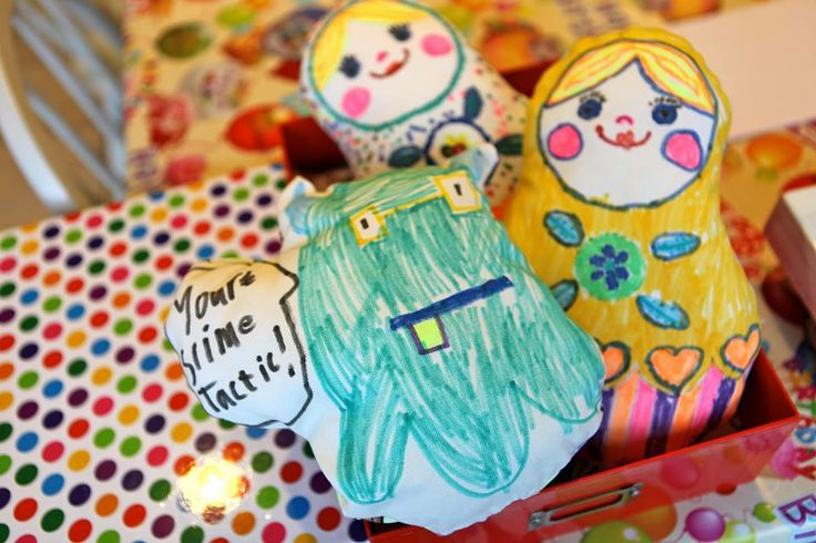 Make a Soft Toy Party - Children design their own soft toy and are then guided to make it on the sewing machine. info@letsmakeart.co.uk