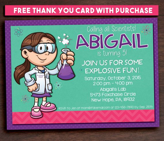 156 best dream jar images on pinterest girl science party invitation science printable filmwisefo