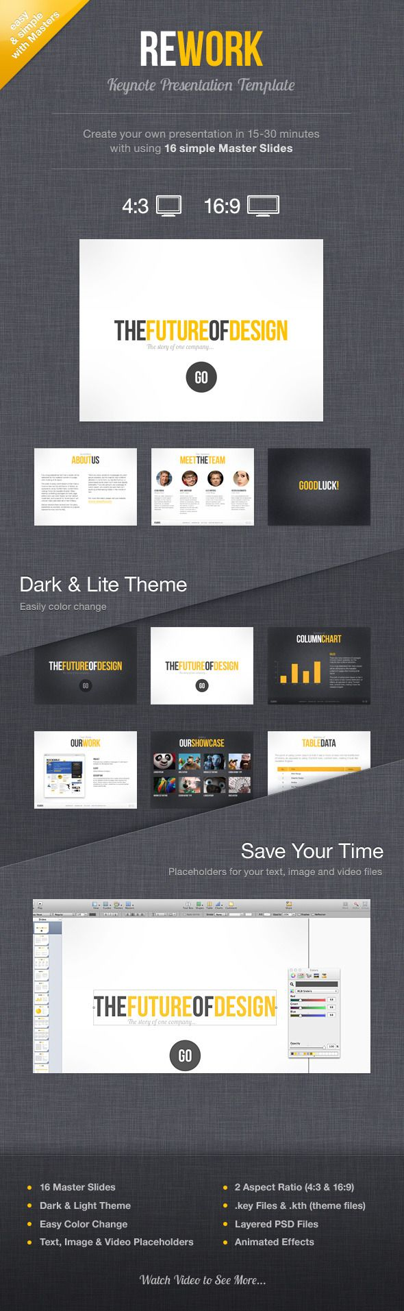 65 best keynote templates images on pinterest business rework keynote presentation template toneelgroepblik Choice Image