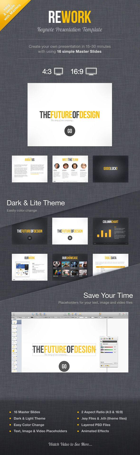 Rework Keynote Presentation Template