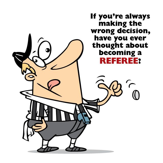 Looking for a new career? If you're always in the wrong and people are always arguing with you, you could become a #football #referee! Courtesy of www.cosmosfb.com