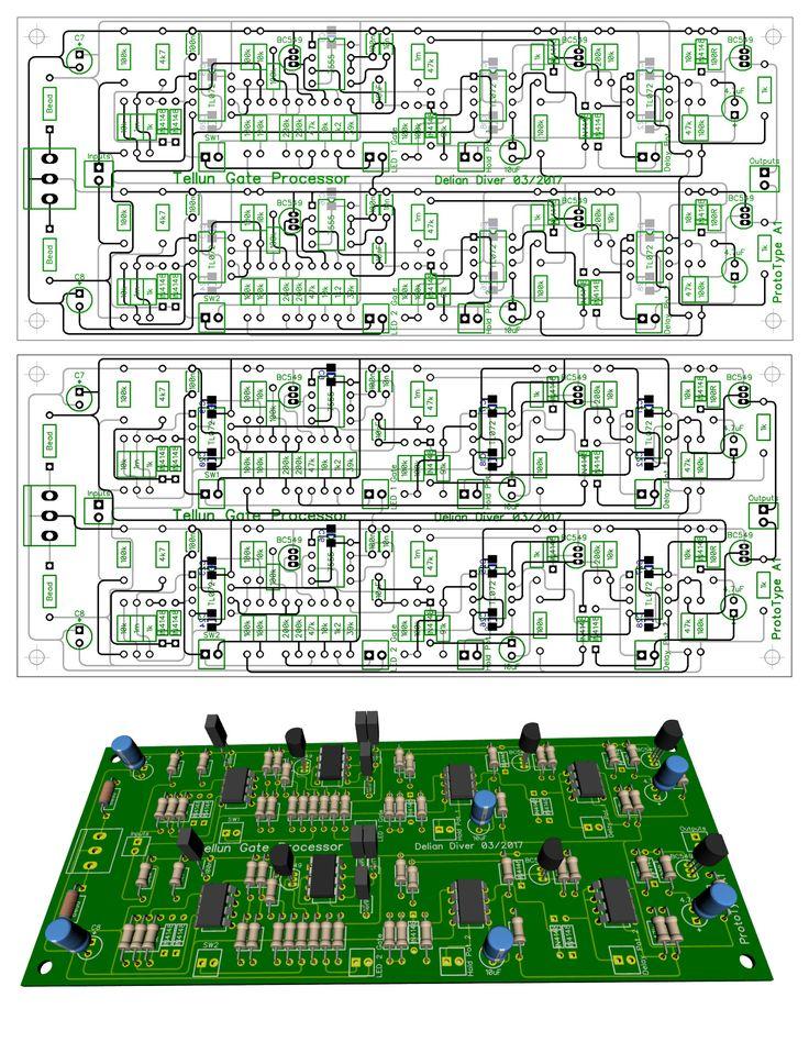 Tellun TLL-866 Gate Processor PCB