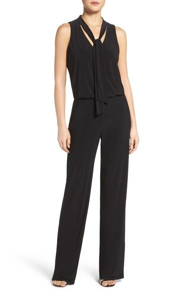 Laundry by Shelli Segal Tie Neck Jumpsuit available at #Nordstrom