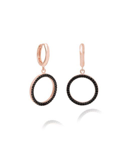 03ee3f132 Round Dangle Earrings, Black | Earrings | Earrings, Dangle earrings ...