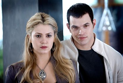 Nikki Reed and Kellan Lutz  As Rosalie and Emmet Cullen in 2008's Twilight