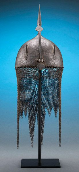 Indo-Persian Khula Khud Helmet. This and more important antique armor for sale on CuratorsEye.com