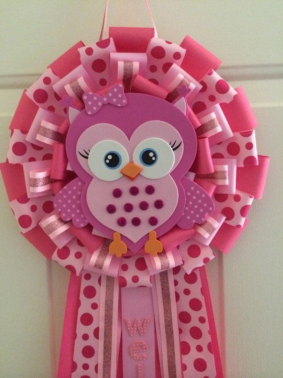 Hey, I found this really awesome Etsy listing at https://www.etsy.com/listing/208539844/its-a-girl-owl-baby-shower-wreath-its-a