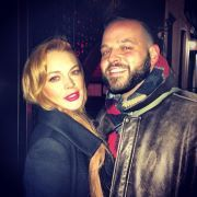 When Lindsay Lohan and her Mean Girls co-star Daniel Franzese reunited, 10 years after the movie was filmed. | The Most Satisfying Celebrity Reunions Of 2014 So Far