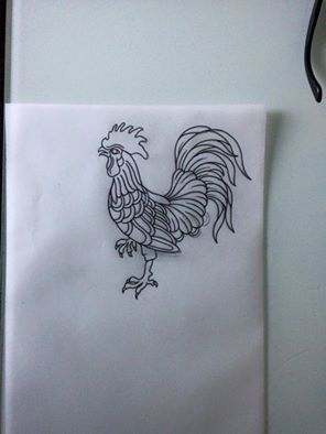 traditional tattoo sketch #rooster tattoo #tattoo idea #old school tattoo