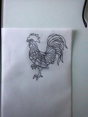 traditional tattoo sketch #rooster tattoo #tattoo idea #old school tattoo