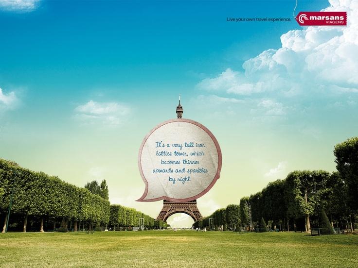Live Your Own Travel Experience, Eiffel | Marsans Viagens | Giacometti