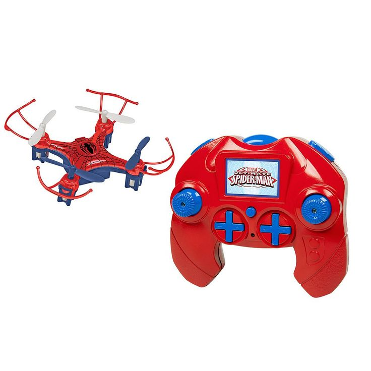 Marvel Avengers Spider Man 4.5CH 2.4GHz RC Quadcopter Micro Drone by World Tech Toys, Multicolor