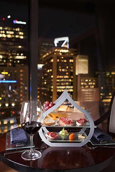 Urban Sip at The Ritz Carlton, Charlotte includes extraordinary wines and artisanal  cheeses with stunning views of downtown Charlotte.