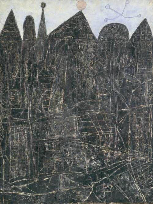 Jean Dubuffet. Large Black Landscape | Grand Paysage noir, 1946: Paysag Noir, Large Black, A Mini-Saia Jeans, Grand Paysage, Landscapejean Dubuffet, Paysage Noir, Black Landscapejean, Jeans Dubuffet, Art Brut