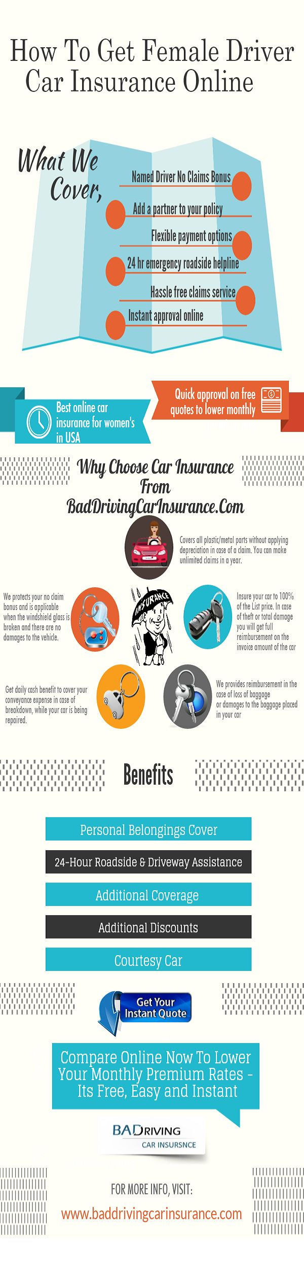 Best car insurance for young female drivers