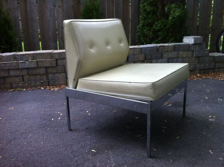 60's vinyl and chrome office chair.  pacificjunctionshop@gmail.com