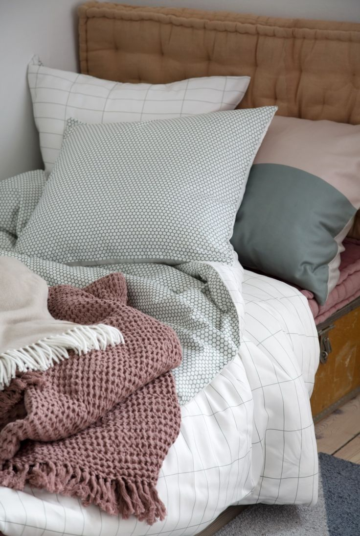 Tile Stone bedding, Cubic- and Nova plaids from Mette Ditmer